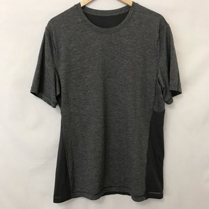Lululemon Mens Gray Workout Top Shirt Short Sleeve